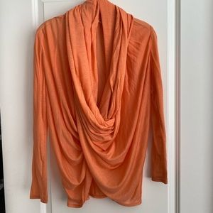 Alice + Olivia Orange Wrap Sweater